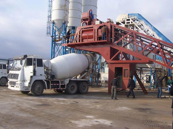 YHZS50 mobile concrete plants to Algeria