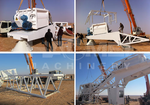HZS75 mobile concrete batching plant to Saudi Arabia